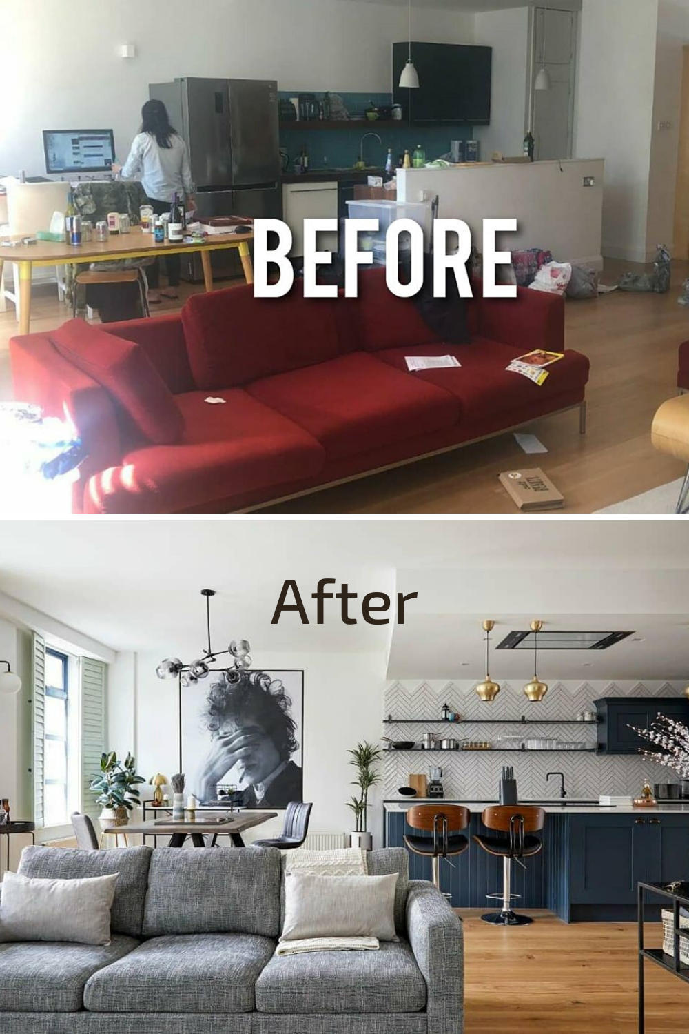 Before and After Interior Transformation